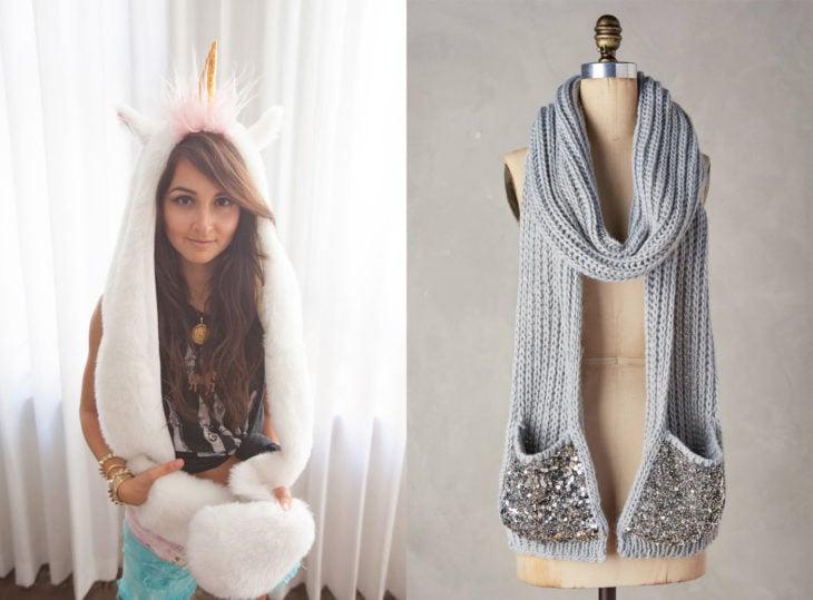 bufanda para cuello y manos