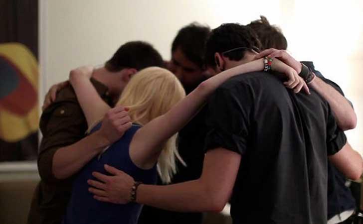 abrazo de amigos