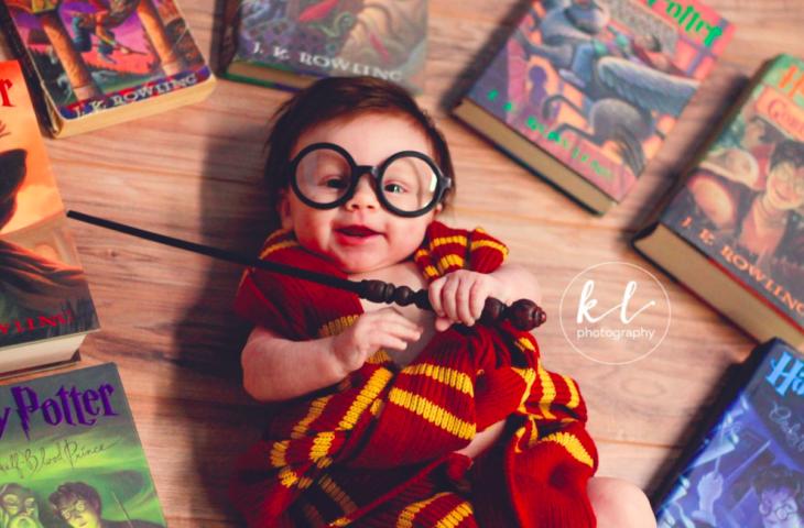 Bebé en sesión al estilo Harry Potter
