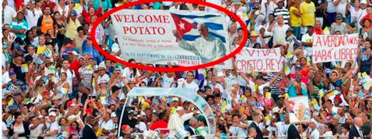 Bienvenida al Papa