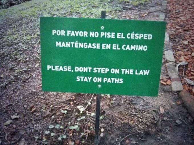 Do not step on the law