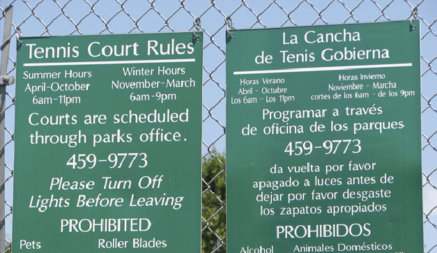 Reglas para tenis