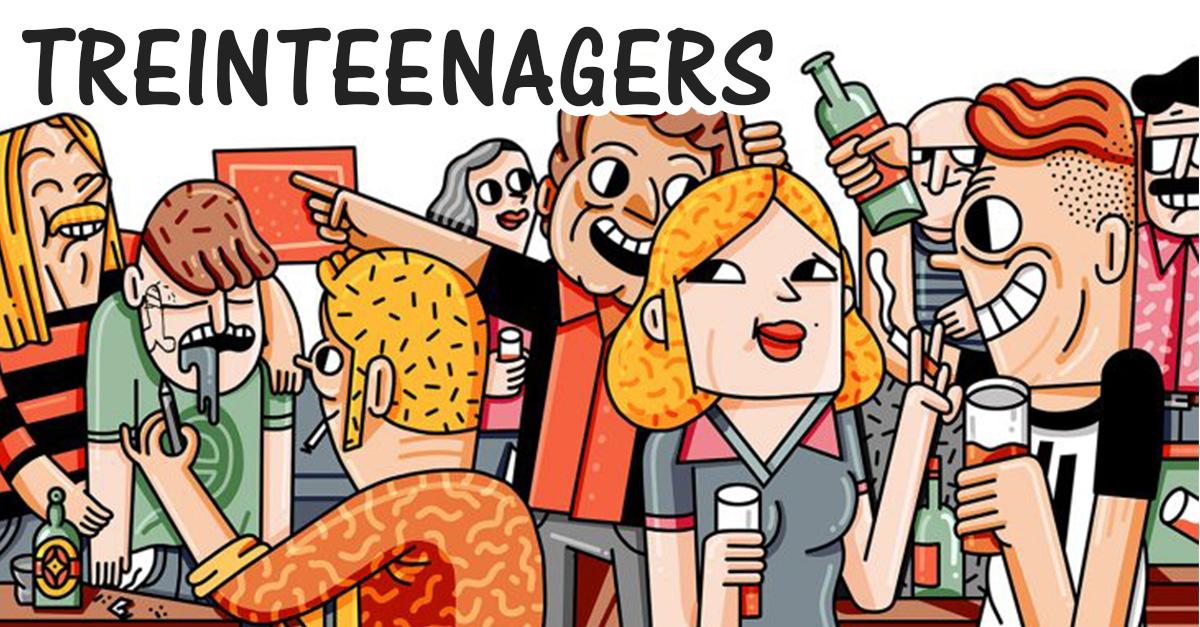 Esta es la vida de los eternos adolescentes a los 30's con el libro Treinteenagers.