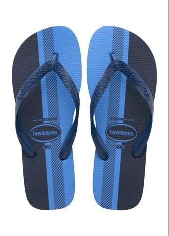 sandalias plástico negras y azules