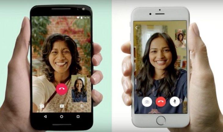 Video call through whatsapp