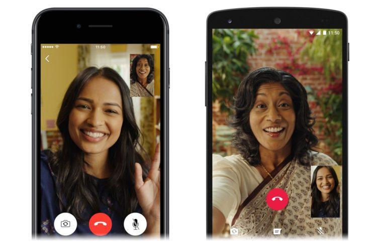 Video calls whatsapp