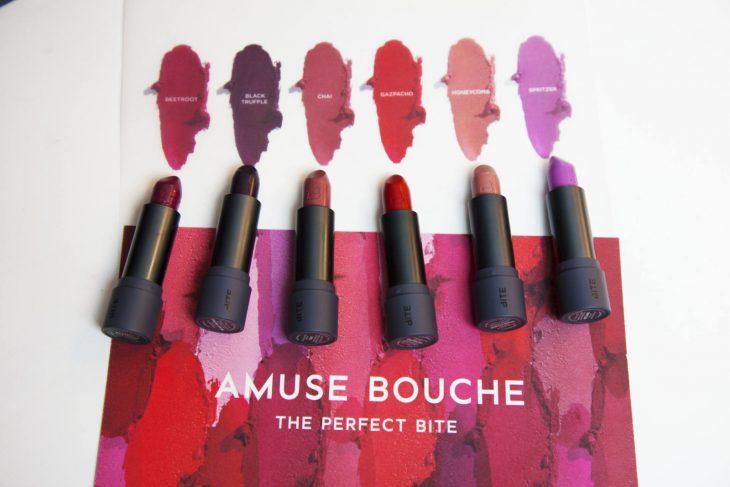 Lipsticks in different shades.