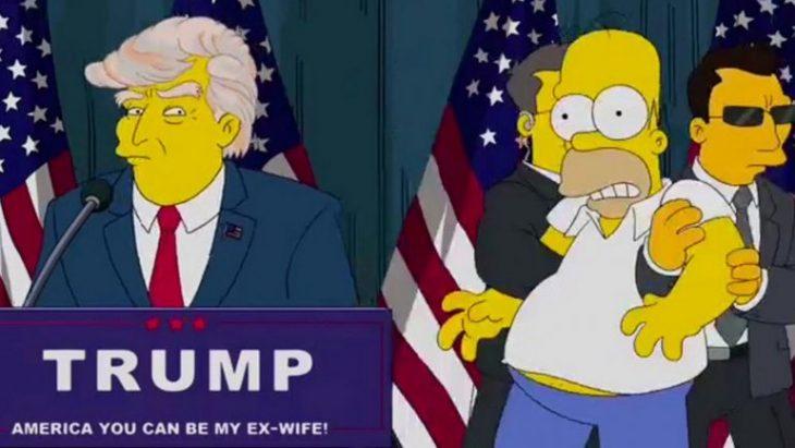 Imagen de Trump dando un mensaje.