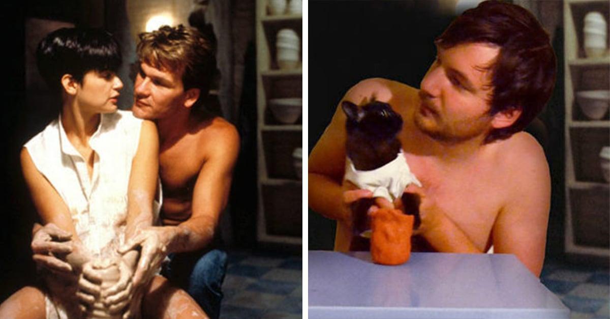 Este chico recrea escenas famosas de películas ¡con su gato!