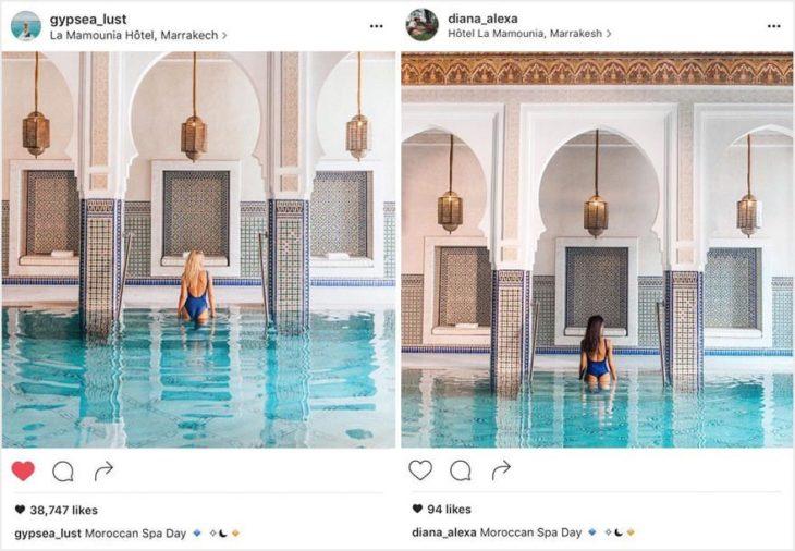 Dos fotografías prácticamente idénticas.