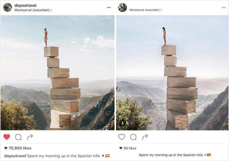 La fotografía original y la copia.