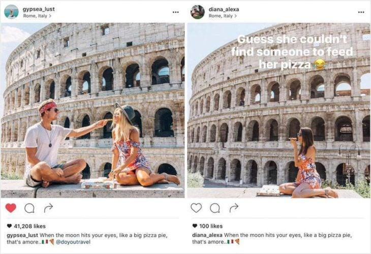 Fotografías en el Coliseo Romano.