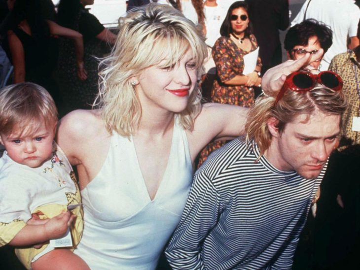 La controversial pareja Kurt Cobain y Courtney Love.