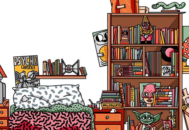ilustración de habitación