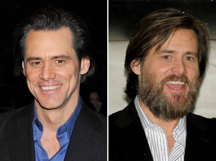 Jim Carrey con barba.