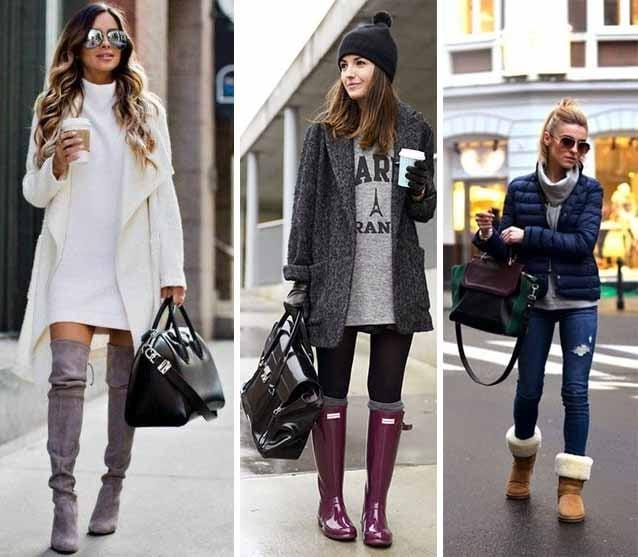 Botas de invierno.