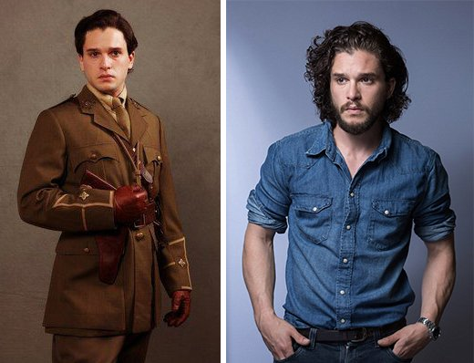 Kit Harington antes y después.