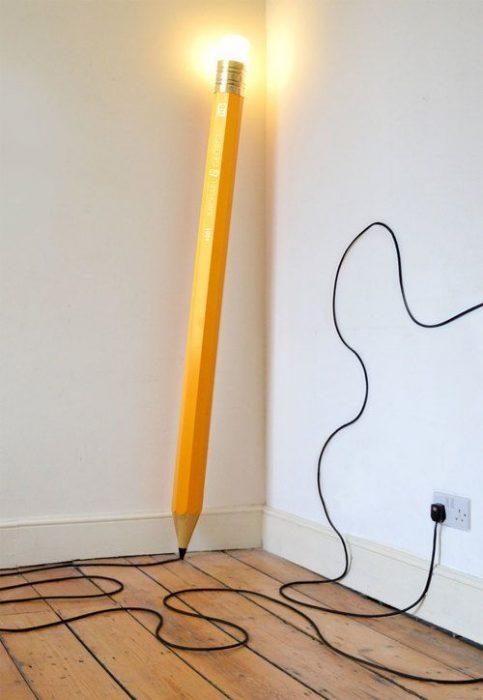 Lámpara de lápiz.