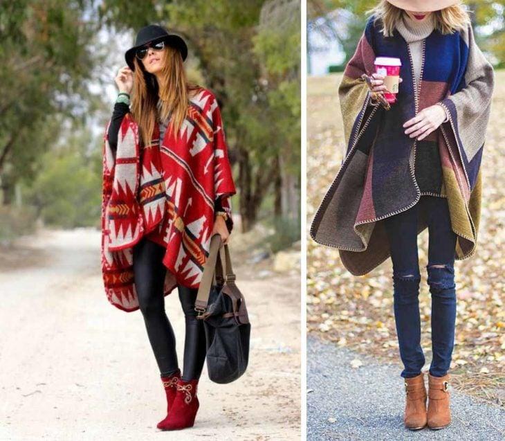 Los ponchos en tu atuendo de invierno.
