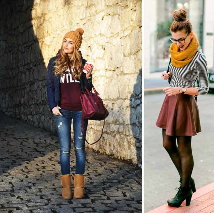 Dress in warm colors.