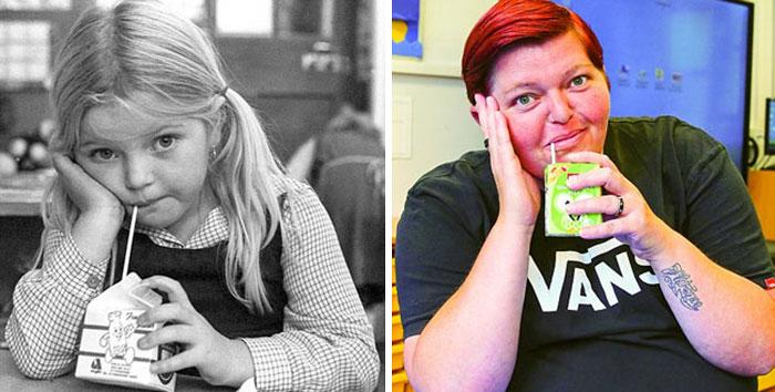 mujer antes y después de 30 años