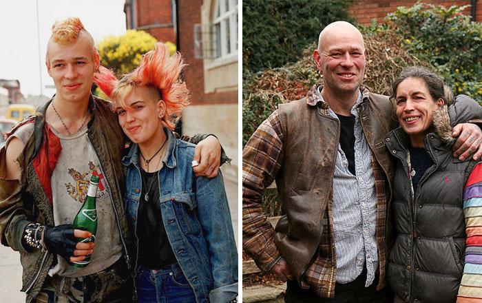 pareja punks antes y después 30 años
