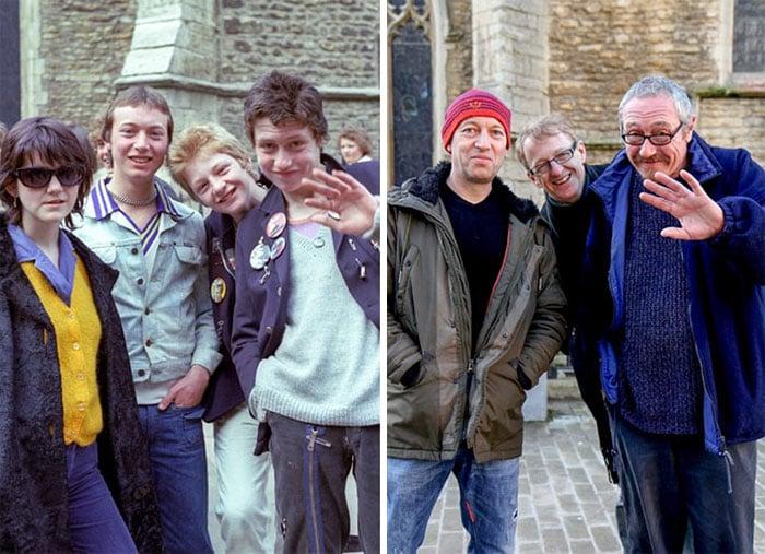 amigos antes y después 30 años