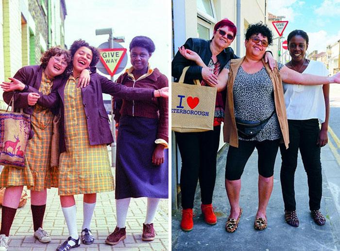 amigas antes y después de 30 años