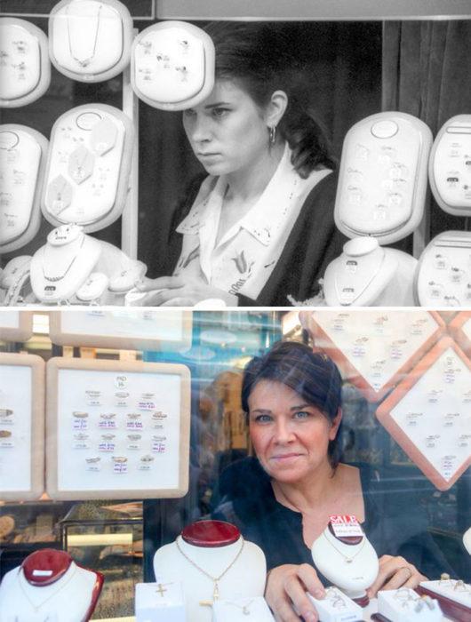 mujer antes y después 30 años