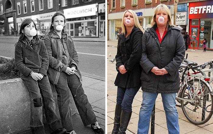 hermanas antes y después 30 años