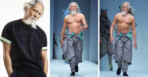 Este hombre de 80 años redefine el concepto de la edad y causa furor en las pasarelas