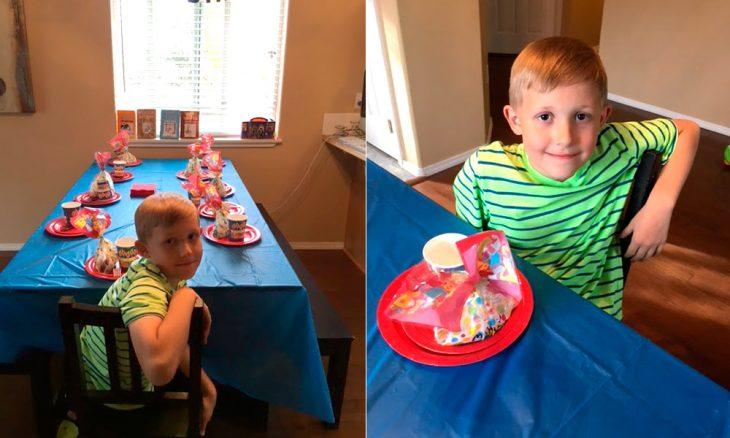 Mahlon en su fiesta de cumpleaños.