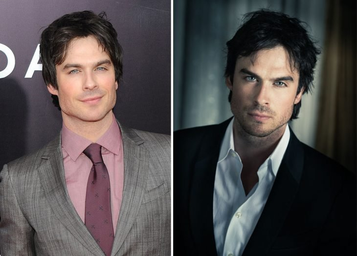 Ian Somerhalder with and without a beard.
