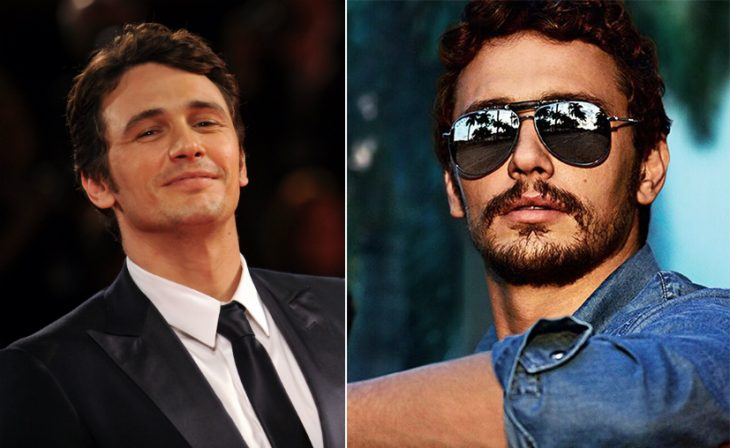 James Franco with and without a beard.