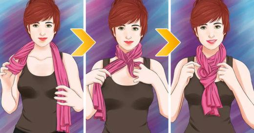 10 maneras de anudar tu bufanda para completar tu look