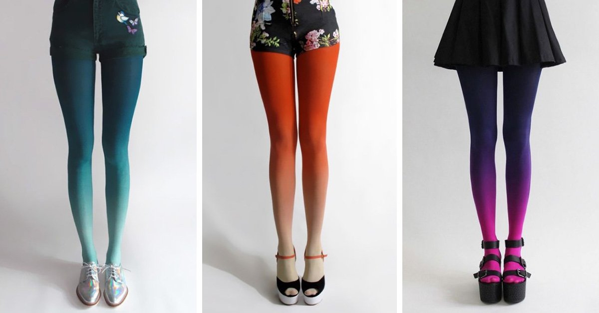 Ponle color a tus piernas con estas medias