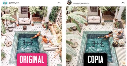 Esta pareja copia las fotos de viaje de otra cuenta de Instagram
