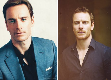 Michael Fassbender before and after.