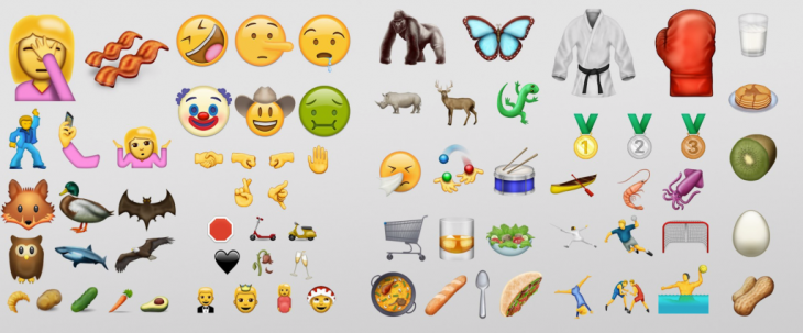 captura de pantalla de emojis