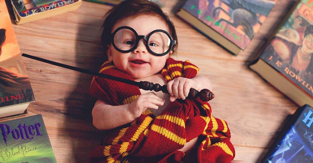 Esta sesión de fotos inspirada en Harry Potter es lo más adorable que verás el día de hoy