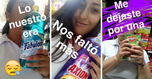 20 corazones rotos en un supermercado que nos hicieron reír con sus historias vía Snapchat