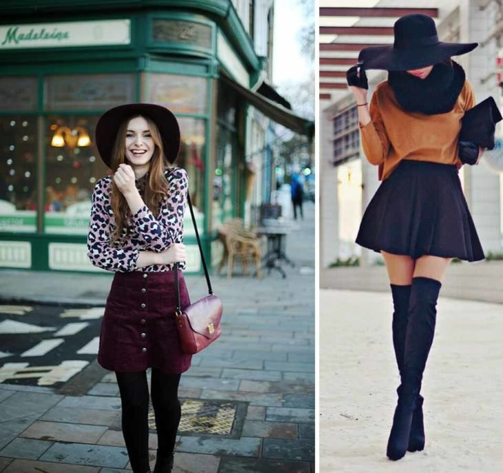 Outfits with skirts cold.