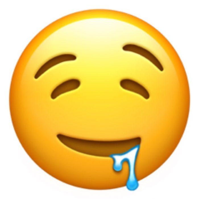 emoji de cara babeando