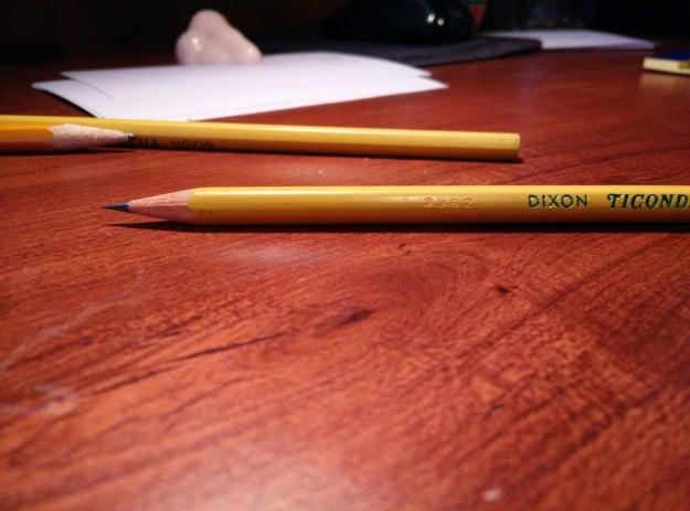 Punta de lápiz perfecto.