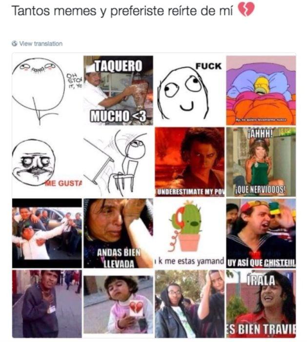 captura de pantalla con memes