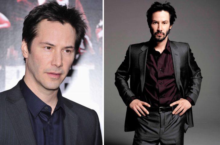 Keanu Reeves antes y después.