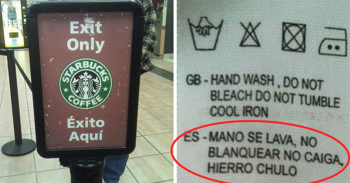 20 Traducciones sin sentido... ¡pero con mucho humor!