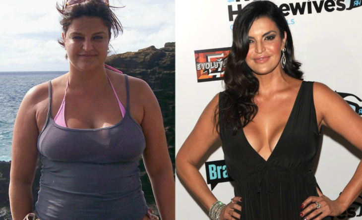 woman before and after overweight