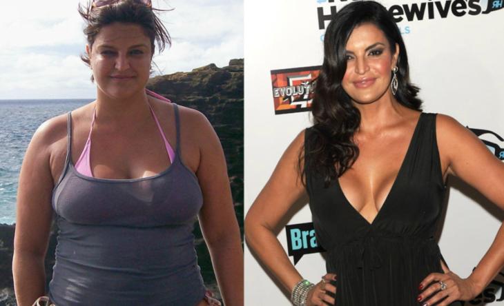mujer antes y después de sobrepeso