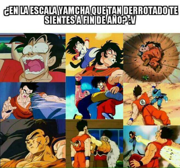 captura de pantalla twitter collage de dragon ball